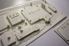 3D printing tactile map by Versoteq