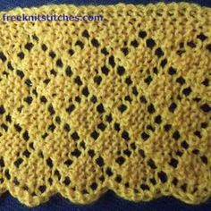 Gridline knitting stitches