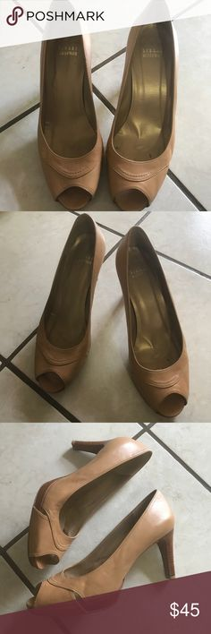 Stuart weitzman nude pumps Peep toe Stuart weitzman Pumps. Sz 9 Gently used and show normal signs of wear as pictured. Stuart Weitzman Shoes Heels