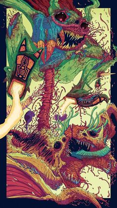 Action Panel Illustration by Brock Hofer, via Behance