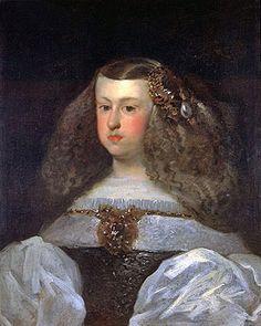 Dona Mariana of Austria, Queen of Spain, 1649 Artist: Diego Rodriguez de Silva Velazquez (1599-1660) Location: Fine Arts Museums of San Francisco California USA