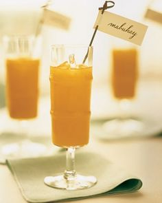 """See the """"Cocktails"""" in our A Formal Coral-and-Brown Wedding in Chicago, Illinois gallery"""