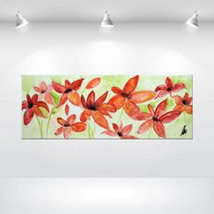 "ORIGINAL Large 32""  Flower Blossom Painting Modern Acrylic Painting Abstract Art Landscape Gallery Fine Art - pinned by pin4etsy.com"
