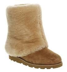 UGG Fox Fur Mini Boots 5859 Chestnut