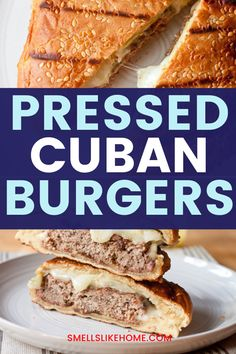 These Pressed Cuban Burgers are stuffed with ground pork and beef and topped with Manchego, dill pickles, and a crazy delicious Dijon aioli. They're wrapped in foil and pressed on a grill to melt the cheese. So yummy! Burger Dogs, Burgers, Summer Grilling Recipes, Easy Dinner Recipes, Cuban Burger, Hot Sandwich Recipes, Breakfast Burger, Aioli, One Pot Meals