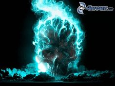 Ghost Rider, feu, crâne