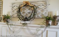 love this mantle decor!