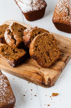Mini Spiced Gingerbread Loaves - Salvage Sister and Mister Xmas Food, Christmas Cooking, Yummy Eats, Yummy Food, Tasty, Candy Cane Cookies, Candy Canes, Cookie Dough To Eat, Mini Loaf Pan
