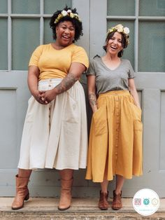 beginner sewing projects The Estuary Skirt is a beginner-friendly, body-friendly skirt pattern that you'll feel like wearing every day of the week. It comes in sizes and f Skirt Patterns Sewing, Sewing Patterns Free, Free Sewing, Clothing Patterns, Skirt Sewing, Pattern Skirt, A Line Skirt Pattern Free, Simple Skirt Pattern, Blouse Pattern Free