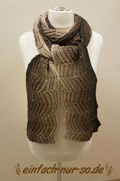 gehäkelter Schal Zackenfluss Crochet Shawl