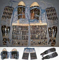 Antique Edo period samurai sangu (three armors of the extremities). samuraiantiqueworld.com