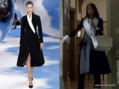 BEST COAT of THE SEASON! scandal-fashion-olivia-pope-christian-dior-fall-2013-black-white-coat-episode-307-everything-s-coming-up-mellie