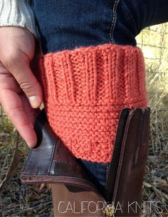 Knit Boot Cuffs by CaliforniaKnits on Etsy