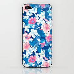 Bloom Blue iPhone & iPod Skin by Aimee St Hill - $15.00