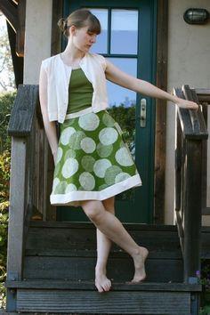 no hem a-line skirt