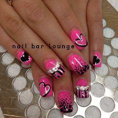 Beautiful pink nail design by Nail Bar Lounge http://nailbarlounge.tumblr.com