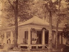 Jefferson Davis at his library at Beauvoir, Biloxi, Mississippi Southern Architecture, New Architecture, American Civil War, American History, Jefferson Davis, Ocean Springs, Confederate States Of America, Places Of Interest, Interesting History