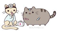Doctor Cat and Pusheen Pusheen Love, Pusheen Cat, Grumpy Cat, Crazy Cat Lady, Crazy Cats, Doctor Cat, Pusheen Stickers, Youtube Animals, Chibi Cat
