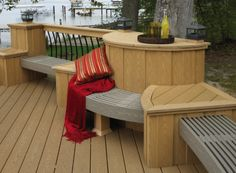 You can curve composite #decking to make additional seating.