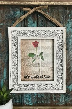 beauty and the beast antique book art DIY #antiquebooks