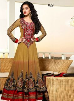 For more detail Contact us at:-  Phone: +91-9574008881, +91-9574008882 Email: support@vandvshop.com https://www.vandvshop.com/new-arrivals/indian-heavy-beautiful-designer-and-styles-brown-anarkali-suits-4594   Indian Heavy Beautiful Designer And Styles Brown Anarkali Suits Rs2,999   Price in reward points: 1000  DUPATTA FABRIC: Nazneen  INNER FABRIC: Santoon  BOTTOM FABRIC: Santoon  CELEBRITY: Shraddha Kapoor  STYLE: Anarkali Suit  FABRIC: Georgette  WORK: Embroidered  COLOUR: Brown