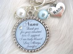 GRANDMOTHER of the BRIDE Grandma of the Groom Gift Grammy Nana necklace Beach Jewelry Love and Support Wedding Mothers Day Gift