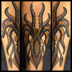 _Hot Tattoo Blog_ skingdomtattoo:  Squid at #florencetattooconvention2015  (presso… via Tumblr