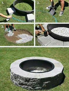 Give your garden something special for summer with a DIY fire pit. These outdoor fire pit ideas include designs for any size of garden, so get DIY-ing! Outdoor 12 Easy and Cheap DIY Outdoor Fire Pit Ideas - The Handy Mano Diy Fire Pit, Fire Pit Backyard, Backyard Patio, Backyard Landscaping, Outdoor Fire Pits, How To Build A Fire Pit, Building A Fire Pit, Back Yard Fire Pit, In Ground Fire Pit