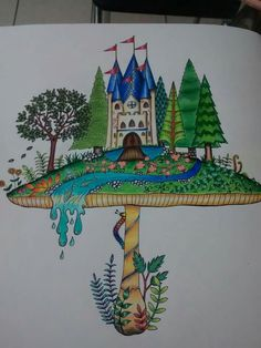 Mushroom castle enchanted forest