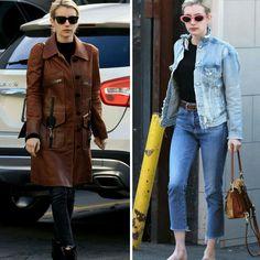 Duas lindas inspirações casuais fashion da Emma Roberts. A primeira, mais discretas, de preto com casacão marrom. E as segunda mais básico, de jeans, com um toque descolado dos óculos rosa. #emmaroberts #casual #fashion #style #inspirations