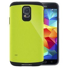 Phone Cover For Samsung Galaxy S5 i9600 SGP SPIGEN Tough Armor Case Grass Green