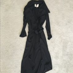 Black trench coat!! New with tag trench coat! Very fashionable and So So trendy! You will LOVE it!!! Jackets & Coats Trench Coats
