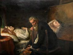 Painting his Dead Daughter ~ Harry Nelson O'Neil