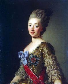 1770s - Grand Princess Natalia Alexeievna, first wife of Paul I, by Alexander Roslin
