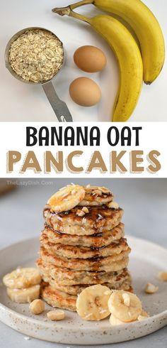 Clean Eating Breakfast, Vegetarian Breakfast, Simple Healthy Breakfast Recipes, Clean Eating Oatmeal, Banana Breakfast Recipes, Healthy Deserts, Healthy Food, Quick And Easy Breakfast, Best Breakfast