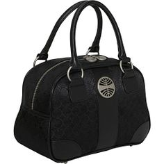 Pan Am Signature Mini Explorer Bag SIGNATURE BLACK - Pan Am Fabric Handbags