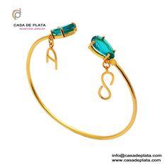 Blue Topaz Silver Bracelet   Gold Plated 925 Sterling Silver Designer Handmade Blue Topaz Bracelet Jewelry