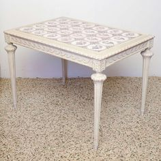 Century Swedish Antique Table With Ceramic Tile Table 19, Vintage Table, Vanity Bench, Cool Furniture, 19th Century, Tile, Ceramics, Antiques, Modern