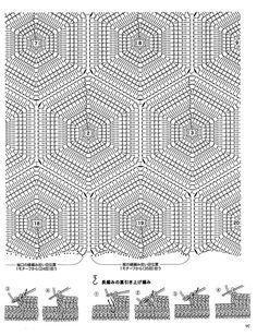 Pullover of openwork hexagons. Granny Square Crochet Pattern, Crochet Diagram, Crochet Stitches Patterns, Crochet Chart, Crochet Motif, Crochet Designs, Knitting Stitches, Knitting Yarn, Knitting Patterns