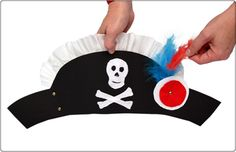 diy pirate hat paper crafts halloween costume kids fun