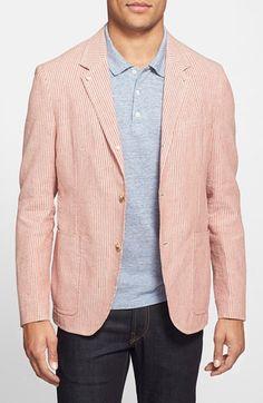 E400 - JKT NEW YORK Regular Fit Stripe Linen & Cotton Sport Coat available at #Nordstrom