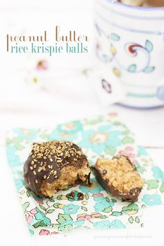 Peanut Butter Brown Rice Krispies sweetened with agave and stevia.     These will be instantly devoured. So good and low guilt.     #vegan #glutenfree