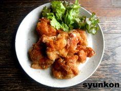 【簡単!】普通の鶏のからあげ(揚げ焼きでもサクサクに、かつはねない方法)|山本ゆりオフィシャルブログ「含み笑いのカフェごはん『syunkon』」Powered by Ameba