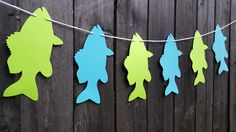 Fish Banner, Fishing Garland, Fishing Party, Fish Garland, fishing Baby Shower, Fishing Birthday Party, Fishing Banner by CraftyCue on Etsy