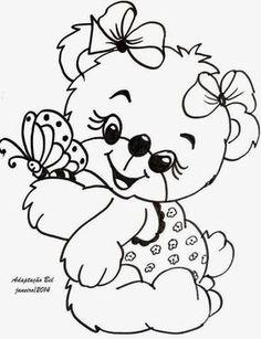 Fabric Painting Walkthrough: bears risks for fabric painting Cute Coloring Pages, Coloring Pages To Print, Printable Coloring Pages, Adult Coloring Pages, Coloring Pages For Kids, Coloring Sheets, Coloring Books, Digital Stamps, Mandala Art