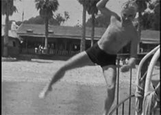 """chaplinfortheages: """" littlebitsofchaplin: """" thefilmcanister: """" Charlie Chaplin and Paulette Goddard. """" These are gifs from a home movie with Chaplin and Paulette Goddard in a 1933 home movie on an ocean ship. Its title is All at See, and was..."""