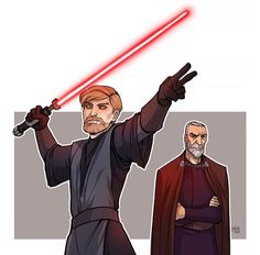 Sith Obi Wan and Count Dooku.. For some reason I want to see this.. :)))