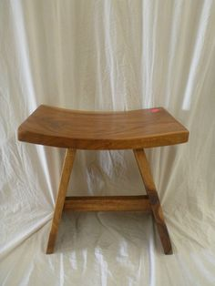 Balinese Natural Timber Wooden Rectangle Stools Chair Seat Medium Stain Stool Chair, Balinese, Vanity Bench, Stools, Home Furniture, Medium, Natural, Inspiration, Home Decor
