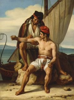 The Tattooing of a Sailor, painting by Constantin Jean Marie Prevost, (France Marie Prevost, Colonial Art, Homo, Jean Marie, Real Mermaids, Art Story, You Draw, Male Figure, French Art
