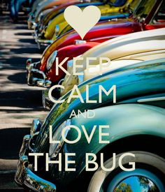 KEEP CALM AND LOVE THE BUG - by JMK Keep Calm Posters, Keep Calm Quotes, Keep On, Keep Calm And Love, Keep Calm Signs, Calm Down, Stay Calm, Peace And Love, Just Love